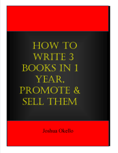 Writing 3 Books in a Year